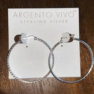 Argento Vivo Sterling Silver Hoops